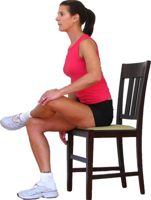 Sciatica Pain Relief Exercises - seated hip stretch